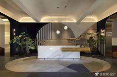 Reception Counter Design, Office Reception Design, Lobby Interior, Office Interior Design, Interior Architecture, Hotel Lobby Design, Public Space Design, Lounge Design, Loft