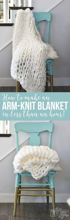 DIY Gift for the Office - Arm Knit Blanket - DIY Gift Ideas for Your Boss and Coworkers - Cheap and Quick Presents to Make for Office Parties Secret Santa Gifts - Cool Mason Jar Ideas Creative Gift Baskets and Easy Office Christmas Presents Knitting Projects, Crochet Projects, Craft Projects, Sewing Projects, Knitting Patterns, Crochet Patterns, Knitting Ideas, Crochet Owls, Project Ideas