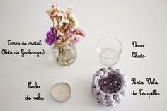 Hazte 1centro de mesa LOW COST con materiales cotidianos, #Decopedia: decoración, bajo precio, económico, barato, handmade, DIY, gratis, Cheap, free, #decopedia2 #lowcost