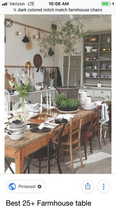 Lasting french country dining room furniture & decor ideas Eclectic Kitchen, Rustic Kitchen, Kitchen Interior, Kitchen Dining, Kitchen Decor, Kitchen Ideas, Bohemian Kitchen, Kitchen Country, Decorating Kitchen