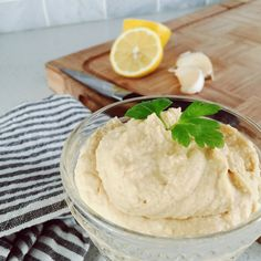 Kids love this healthy homemade lemon garlic hummus recipe.