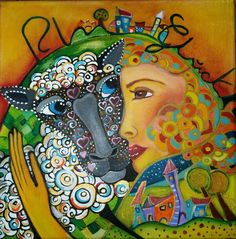 Rhöner Schlaf Schaf  Akryl auf Leinwand  30 × 30 Von Jeanett Rotter