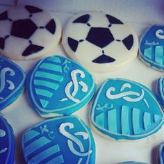 Bday party cookies @Sporting Kansas City made by Blvd Bakery in KC!! So delish!
