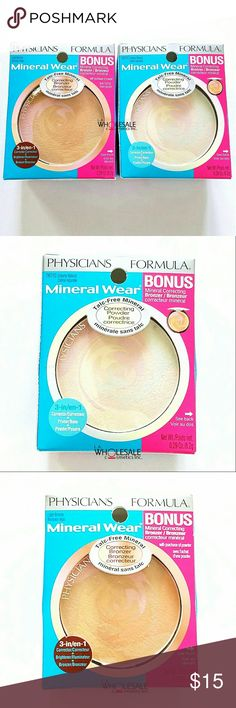 Physicians Formula Correcting Powder & Bronzer Physicians Formula Mineral Wear Correcting Powder in CREAMY NATURAL w/ Bonus Correcting Bronzer in LIGHT BRONZER - Brand New in Box  NOTE: * First photo shows the front + back of the product * You will get the Powder and Bronzer all in 1 Box! Physicians Formula Makeup Face Powder