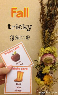 Fall Vocabulary Cards ($2). 24 cards inside. These cards can be used with students Starter and Elementary level during ESL / EFL lessons. Suitable for grades 3-6 during ELA lessons. #crazycharizma