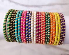 Simple Bridal Shower Decorations Ideas Ribbons Ideas For 2019 Silk Thread Bangles Design, Silk Thread Necklace, Silk Bangles, Bridal Bangles, Thread Jewellery, Silk Thread Earrings Designs, Diy Jewellery, Jewellery Making, Jewelry Crafts