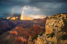 Grand Canyon National Park, Arizona Double Rainbow - adamschallau.photoshelter.com