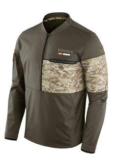b6f2e63a7 Nike Vikings 1 2 Zip Salute To Service Hybrid Jacket