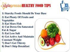 8 Healthy Food Tips