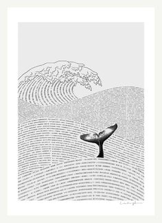 The Ocean of Story  A4 Print by ilovedoodle on Etsy, $30.00