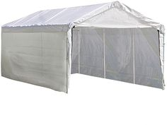 ShelterLogic 23572 Super Max 2-in-1 10 ft. x 20 ft. 4-Rib Canopy with Enclosure Kit
