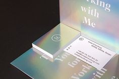 Sonja Kreuzburg on Branding Served business card design opalescent paper gradient logo typography