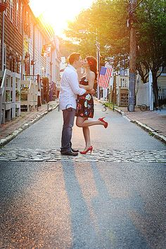 I love this engagement shot! Perfect for a small town summer wedding