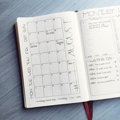 Started to fill out the calendar on the left side. I just noticed I wrote down…
