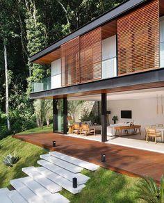 3,463 отметок «Нравится», 12 комментариев — Art & Architecture Magazine (@modern.architect) в Instagram: «Portobello #House, @tripperarquitetura, #Brazil»