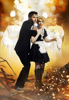"Astrid and the Doctor in ""Voyage of the Damned"""