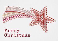 Christmas Star Card / Poster / Favor bag - Paloma Navio