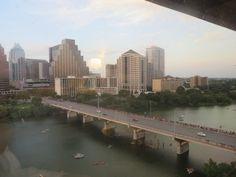 View of downtown from our hotel room