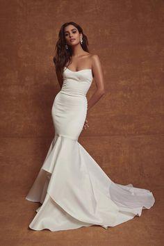 Sarah Seven Bridal, Sarah Seven Wedding Dresses, Chic Wedding Dresses, Wedding Attire, Bridal Dresses, Wedding Gowns, Lace Wedding, Belle Silhouette, Dress Vestidos