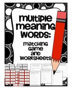 math worksheet : 1000 ideas about multiple meaning words on pinterest  homographs  : Multiple Meaning Words Worksheet 5th Grade