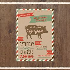 pig pickin invitation wording google search bbq pinterest