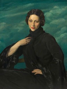 Pauline, Wife of the Artist - Herbert James Gunn 1930