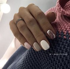 Nice mixed nails | Awesome fashion clothes for stylish women from Zefinka.