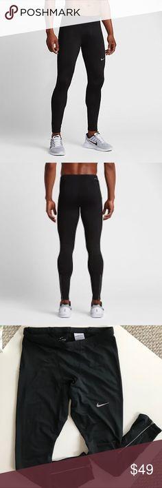 5b512202a353e NWOT Nike Therma Base Layer Black Running Tights Nike Men's Therma Base  Layer Running Tights Pants