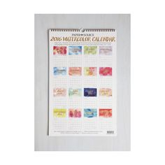 Popular Dorm Decor Watercolor Me Rad Wall Calendar liked on