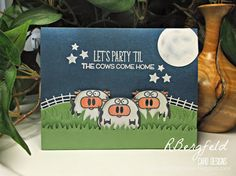 Rachel's Card Corner: Party! - MFT Stamps, From the Herd - Paper Smooches, Chubby Chums