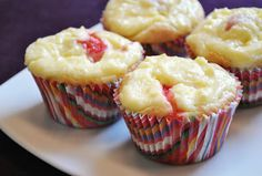 Küchenzaubereien: Strawberry & White Chocolate Cheesecake Muffins