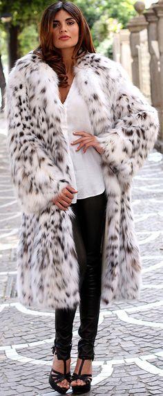 PELZ PELZMANTEL MANTEL LUCHS FUR COAT LYNX PELLICCIA FOURRURE LINCE рыси меха | eBay