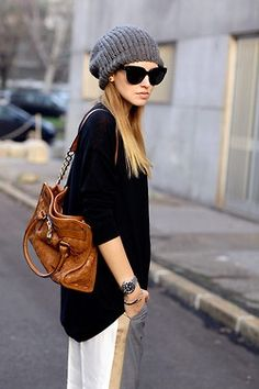 "BlondeSalad street style- Loving the Celine ""New Audrey"" sunglasses!"