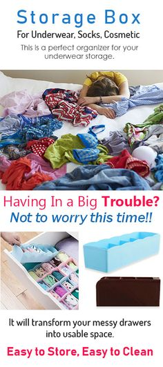 5e14c0d400e Underwear Organizer Diy Storage Box On sale