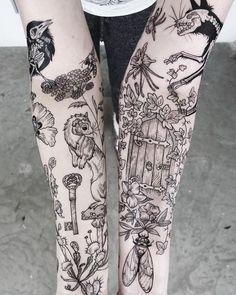 "Excellent Pics Secret Garden tattoo Ideas In Francis Hodgson Burnett wrote an ebook entitled ""The Secret Garden&rdquo ; Diy Tattoo, Stick Tattoo, Tattoo Kits, Forearm Sleeve, Leg Sleeve Tattoo, Sleeve Tattoos For Women, Female Tattoo Sleeve, Female Leg Tattoos, Nature Tattoo Sleeve"
