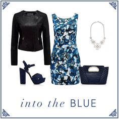 Into the blue-Forever New Forever New, Polyvore, Blue, Image, Clothes, Fashion, Tall Clothing, Moda, Fashion Styles