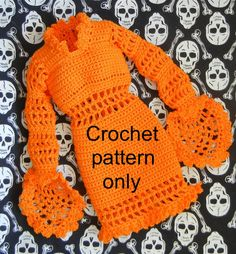 Crochet pattern (PDF) for 16-inch fashion doll - a party dress for Halloween - Tyler Stella Diana