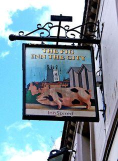 File:The Pig Inn the City pub sign, 121 Westgate Street - geograph.org.uk - 1432585.jpg