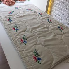 This Pin was discovered by Ayl Handicraft, Comforters, Diy And Crafts, Projects To Try, Embroidery, Blanket, Home, Islam Quran, Adele