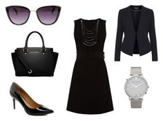 Black by lindseybates on Polyvore featuring Warehouse, Topshop, Calvin Klein, MICHAEL Michael Kors and Larsson & Jennings
