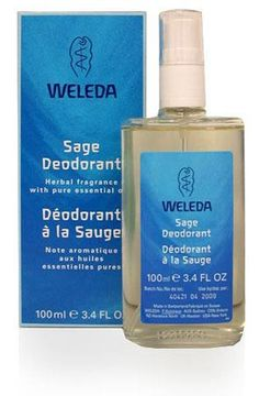 Sage Deodorant by Weleda. I got this for my man & it's the first natural deodorant that has worked for him. It's SO nice that I use it too & got the citrus & rose as well! Comes in a pretty glass bottle that's recyclable.
