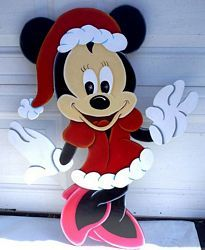 christmas minnie 2 diy christmas yard art mickey christmas christmas yard decorations christmas - Disney Wooden Christmas Yard Decorations