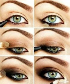 Amazing smokey brown make up, perfect for green eyes! Mine are grey but I think it's beautiful on every eyes colour