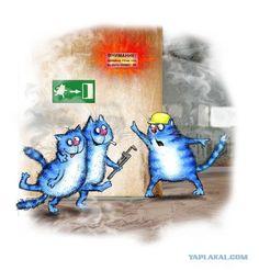 Синие коты художницы Ирины Зенюк. by. Rina Zeniuk