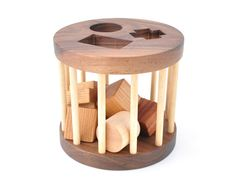 Wooden Shape Sorter Toy  Montessori Inspired by KeepsakeToys, $44.00