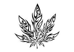 tribal marijuana leaf by cuba12