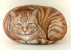 Drawing on a rock ; Cat on a stone