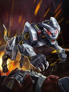 Decepticon Cassette Ravage Artwork From Transformers Legends Game