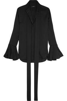 ELLERY Little Me ruffled stretch silk-georgette blouse  $1,310.00 https://www.net-a-porter.com/product/734154