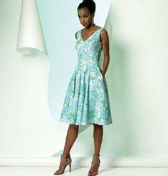 Vogue Patterns V8997 Patrons de robes pour femme Multicolore Tailles 34 à 42…